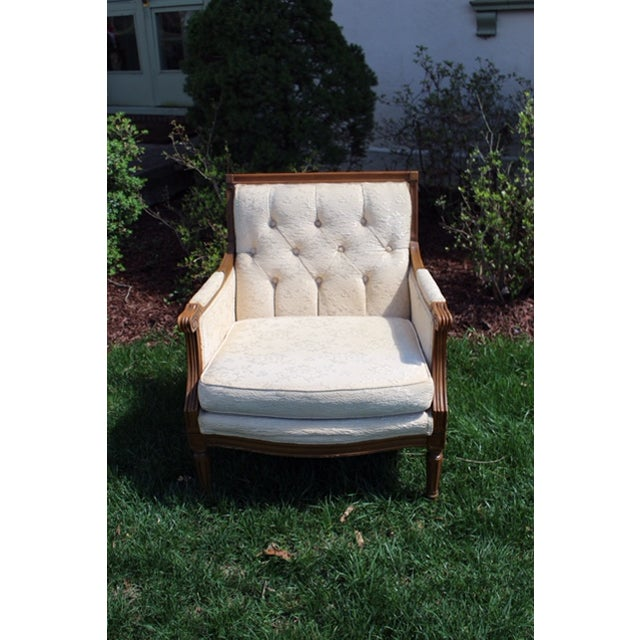 Vintage French Wood Frame Chair - Image 2 of 6