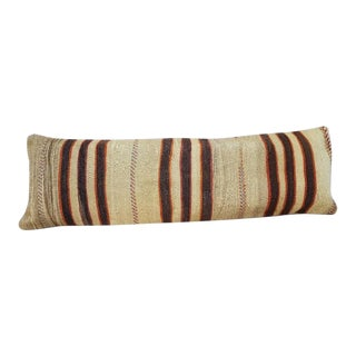 Vintage Woven Kilim Lumbar Pillow Cover For Sale