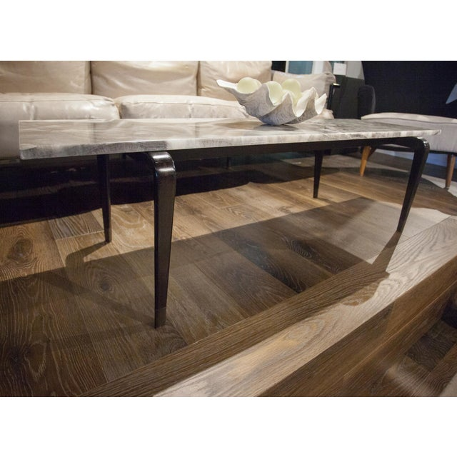 2010s Custom Onyx Top Coffee Table For Sale - Image 5 of 5