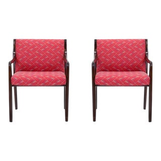 Pair of Edward Wormley for Dunbar Side Armchairs For Sale