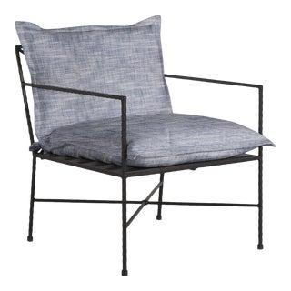 Summer Classics Italia Lounge in Faded Linen Indigo For Sale