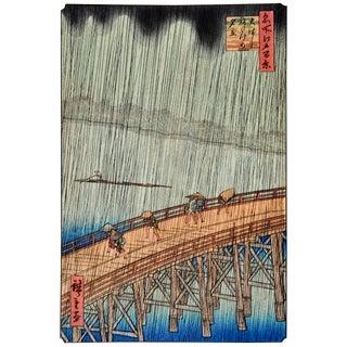 Hiroshige Sudden Shower Woodblock Print For Sale