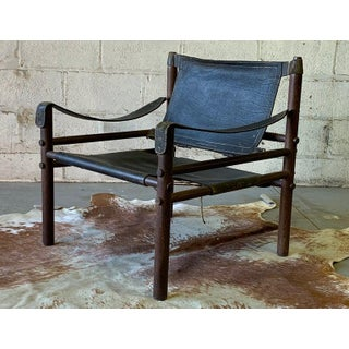 Authentic + Rare Mid Century Modern Leather Safari Chair by Arne Norell, Made in Sweden Preview