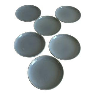 Midcentury Russel Wright Iroquois Oyster Gray Bread/ Dessert Plates S/6 For Sale