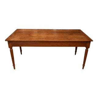 French Provincial Cherrywood Farm Table For Sale