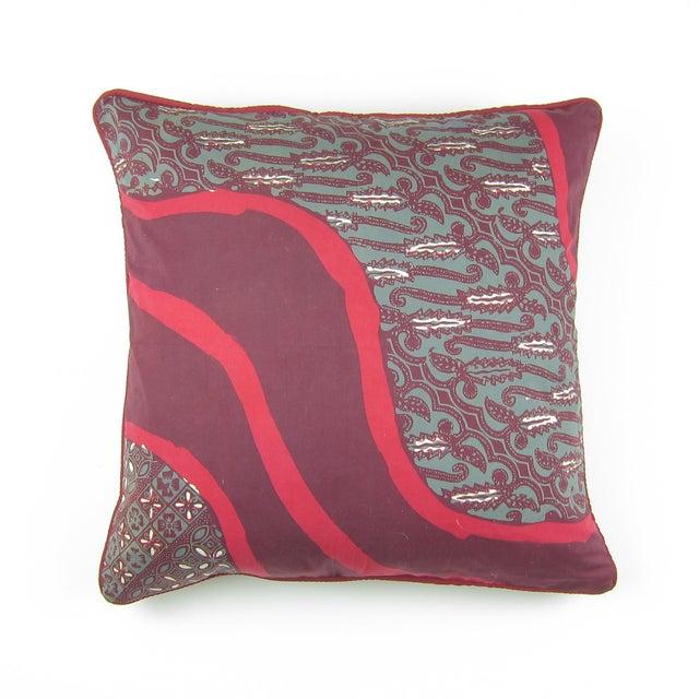 Raspberry Pink Cap Batik Ungu Pillow - Image 2 of 4