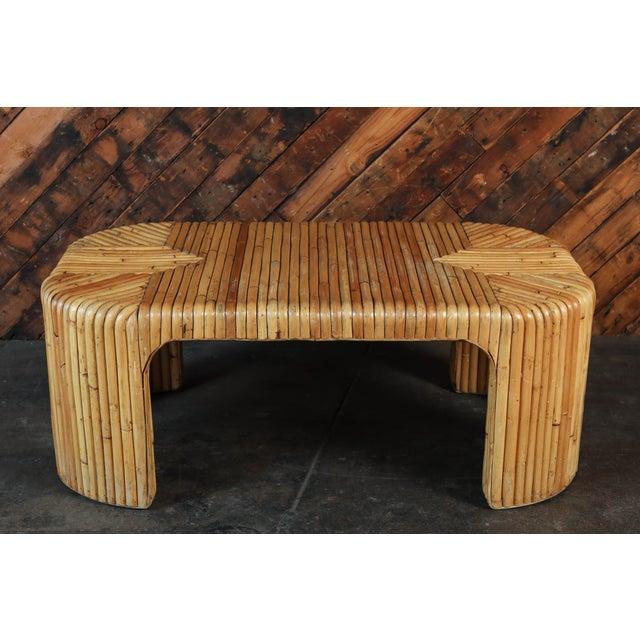 Vintage 1970's Rattan Coffee Table - Image 4 of 4