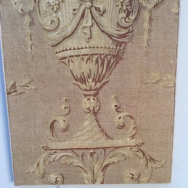 Baroque 18th Century French Textile Printed Linen Panels - a Pair For Sale - Image 3 of 13