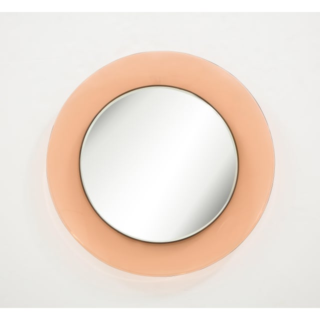 Circular Wall Mirror by Max Ingrand for Fontana Arte For Sale - Image 9 of 9