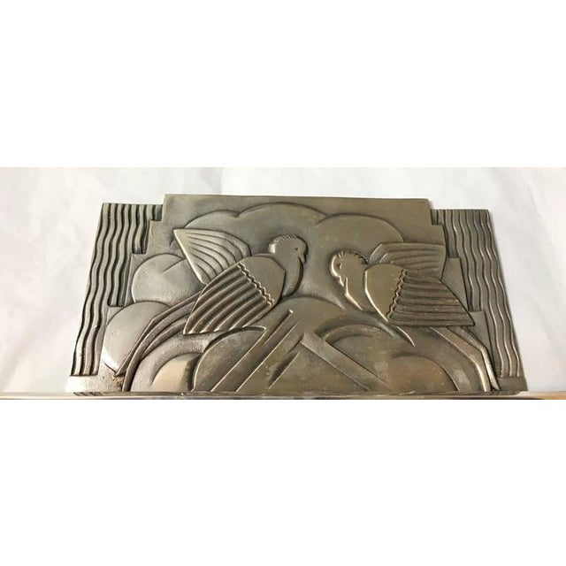 French Art Deco Sconces With Geometric Motif - a Pair For Sale In New York - Image 6 of 9