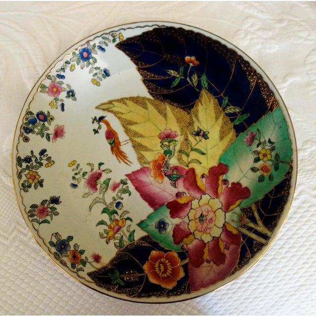 1960s 1960s Chinese Tobacco Leaf Plate For Sale - Image 5 of 7
