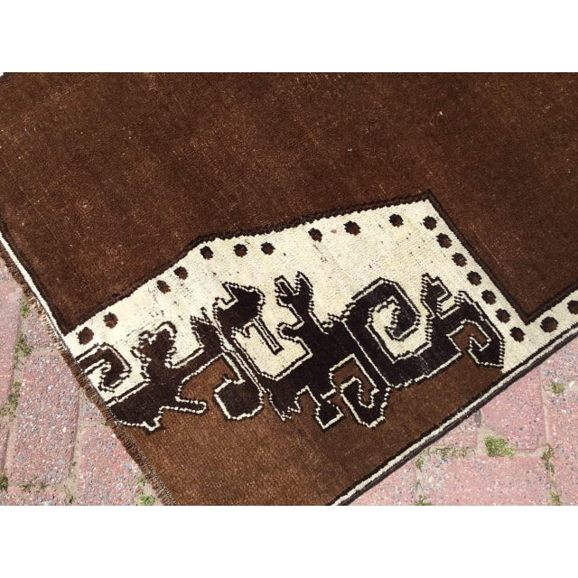 Brown Turkish Area Rug For Sale - Image 4 of 9
