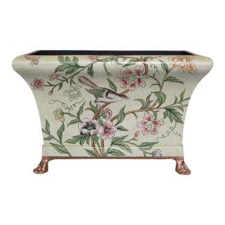 Tole Style Decorated Decorative Planter Box