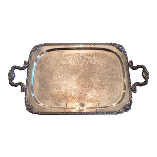 Silverplate Serving Tray