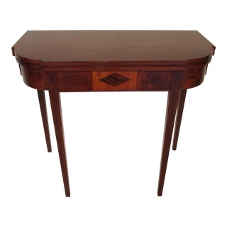 1900s Traditional Irving and Casson Mahogany Card Table For Sale