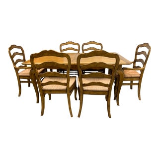 Ballard Designs French Style Dining Set-Set of 9 For Sale