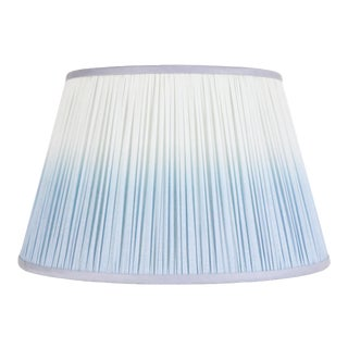 "Ombre Cotton Shirred Shade 14"" Blue For Sale"