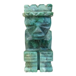 Mid-Century Malachite Green Stone Sculpture