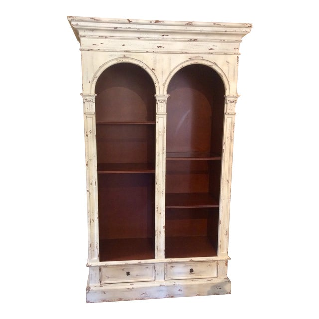 English Traditional Style Painted Book Shelf For Sale