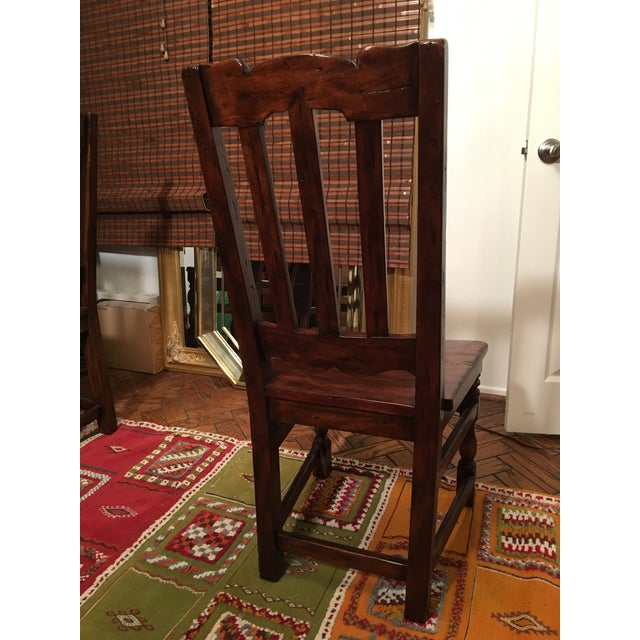 California Spanish Mahogany Dining Chairs - Set of 4 - Image 3 of 4