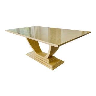 20th Century Art Deco Karl Springer Ivory Bone Dining Table For Sale