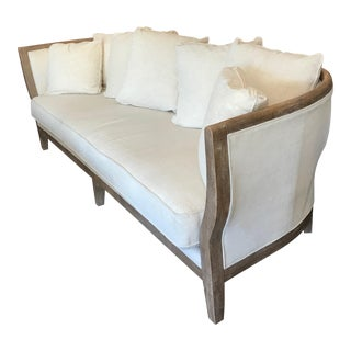 Four Hands Hayes Curved Cream Sofa