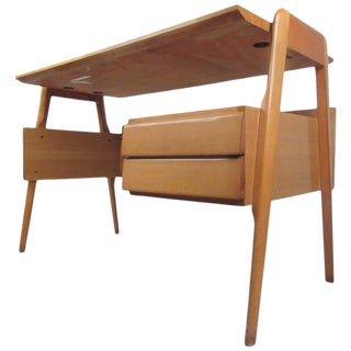 Italian Modern Floating Top Desk After Paolo Buffa For Sale