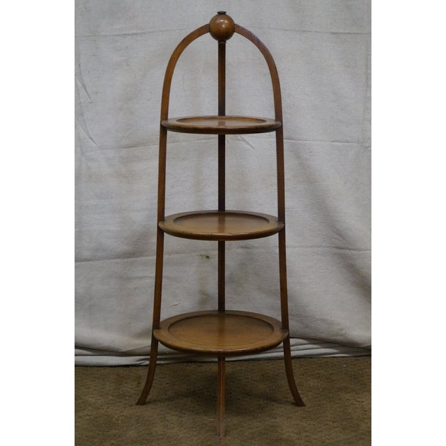 Biggs Mahogany Regency Style 3 Tier Muffin Stand For Sale - Image 9 of 10