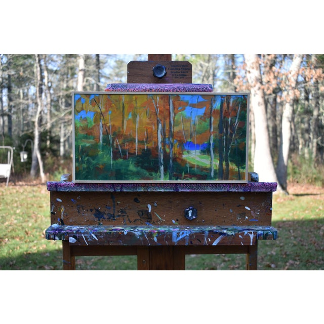 """Abstract Expressionism """"Autumn by the River"""" Acrylic Painting by Stephen Remick For Sale - Image 3 of 9"""