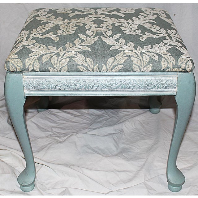 Queen Anne-Style Painted Footstool - Image 3 of 5