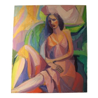 """Lady in Slip Dress"" by Barbara Yeterian For Sale"