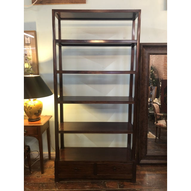 Asian Modern Wood Etagere For Sale - Image 13 of 13