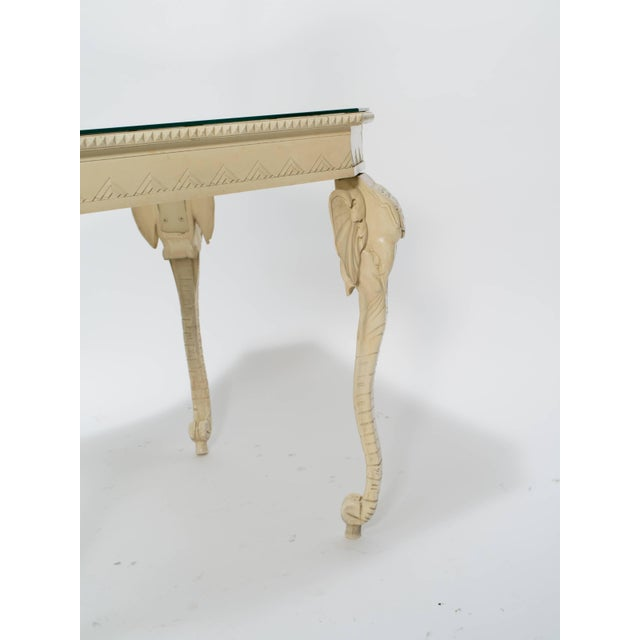 Carved Painted Elephant Occasional Table For Sale In New York - Image 6 of 7