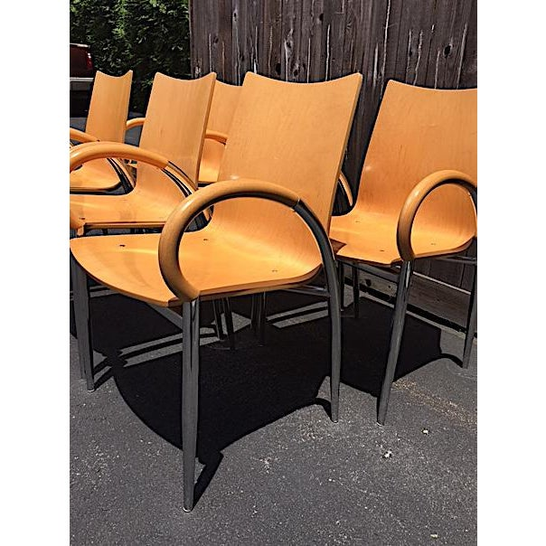 Lowenstein Bentwood & Chrome Dining Chairs - Set of 6 For Sale - Image 4 of 9