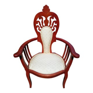 1970s Vintage Victorian Parlor Chair For Sale