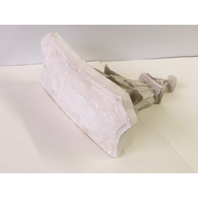 Neoclassical White Acanthus Carved Plaster Wall Bracket For Sale - Image 11 of 12