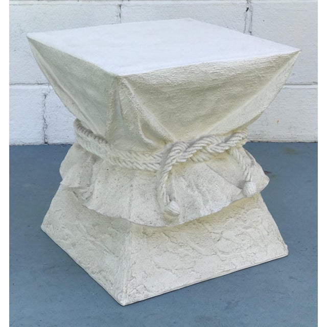 Faux Plaster Drape Pedestal / Table Base For Sale In Tampa - Image 6 of 6