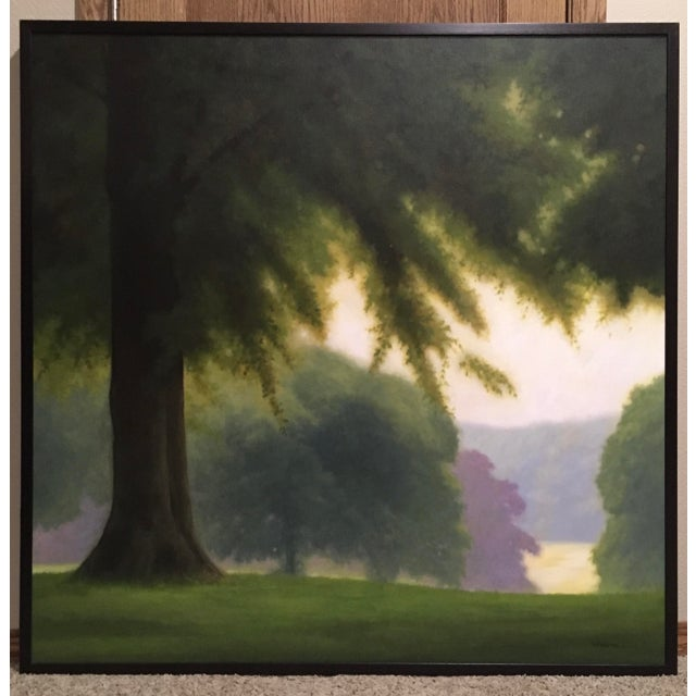 Canvas Traditional Tree Painting by j.r. Newton For Sale - Image 7 of 7