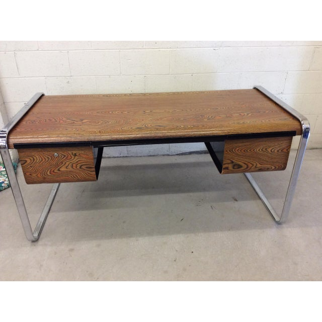 Peter Protzman for Herman Miller Exotic Zebrawood Desk For Sale - Image 10 of 11