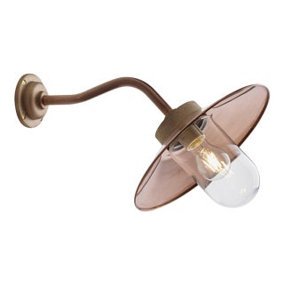Tekna Quay 45° Wall Light with Copper Finish and Clear Glass For Sale