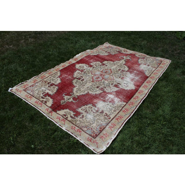 Handmade Anatolian Turkish Oushak Area Rug Handwoven with high-quality pure wool. Excellent condition. All my rugs are...