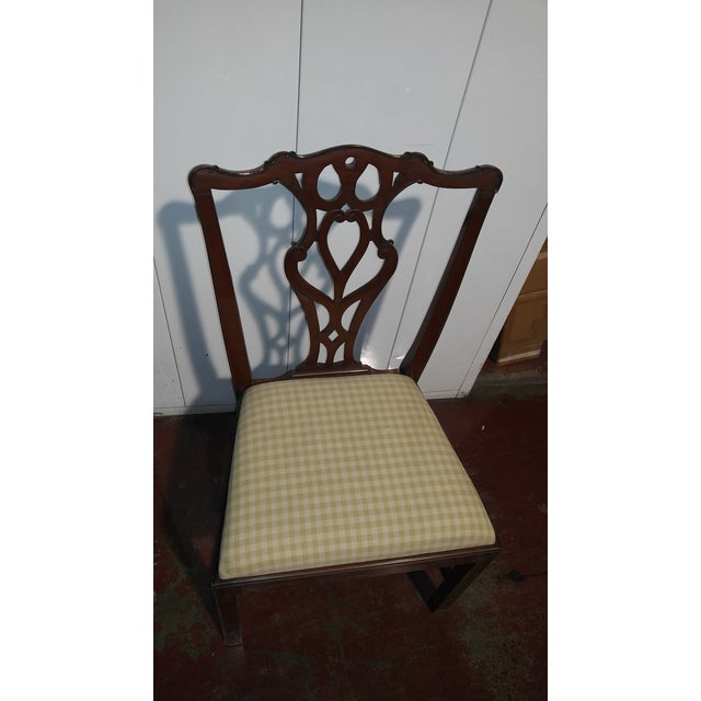 """1990s English Chippendale Dining Chairs by """"Restall, Brown & Clennell Ltd"""" - Set of 12 For Sale - Image 9 of 13"""