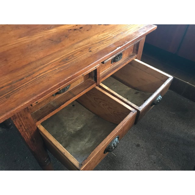 Antique Oak Feed Table For Sale In Las Vegas - Image 6 of 8
