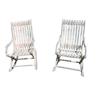 Vintage Porch Rockers - Pair For Sale