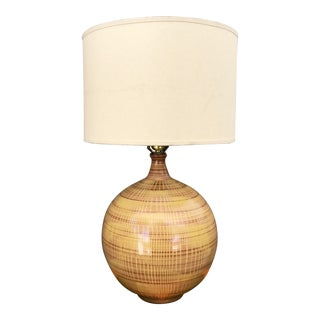 Design Technics Lee Rosen Yellow & Brown Ball Lamp For Sale