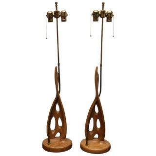 Midcentury Biomorphic Lamps For Sale