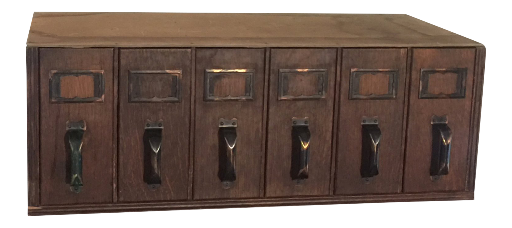 1940s vintage industrial 6 drawer library card catalog file cabinet rh chairish com