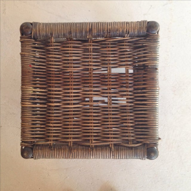 Cane & Wicker Stool - Image 4 of 4