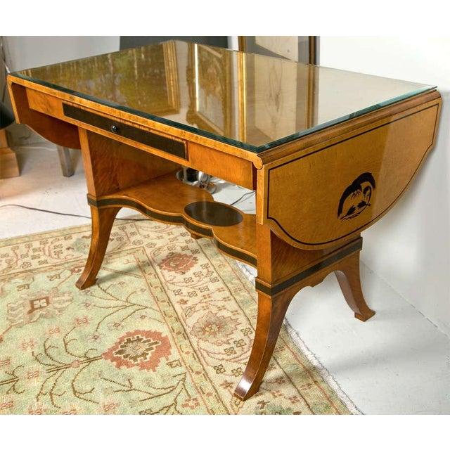 Art Nouveau Art Nouveau Satinwood Sofa Table For Sale - Image 3 of 10