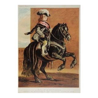 1873 Equestrian Chromolithograph For Sale